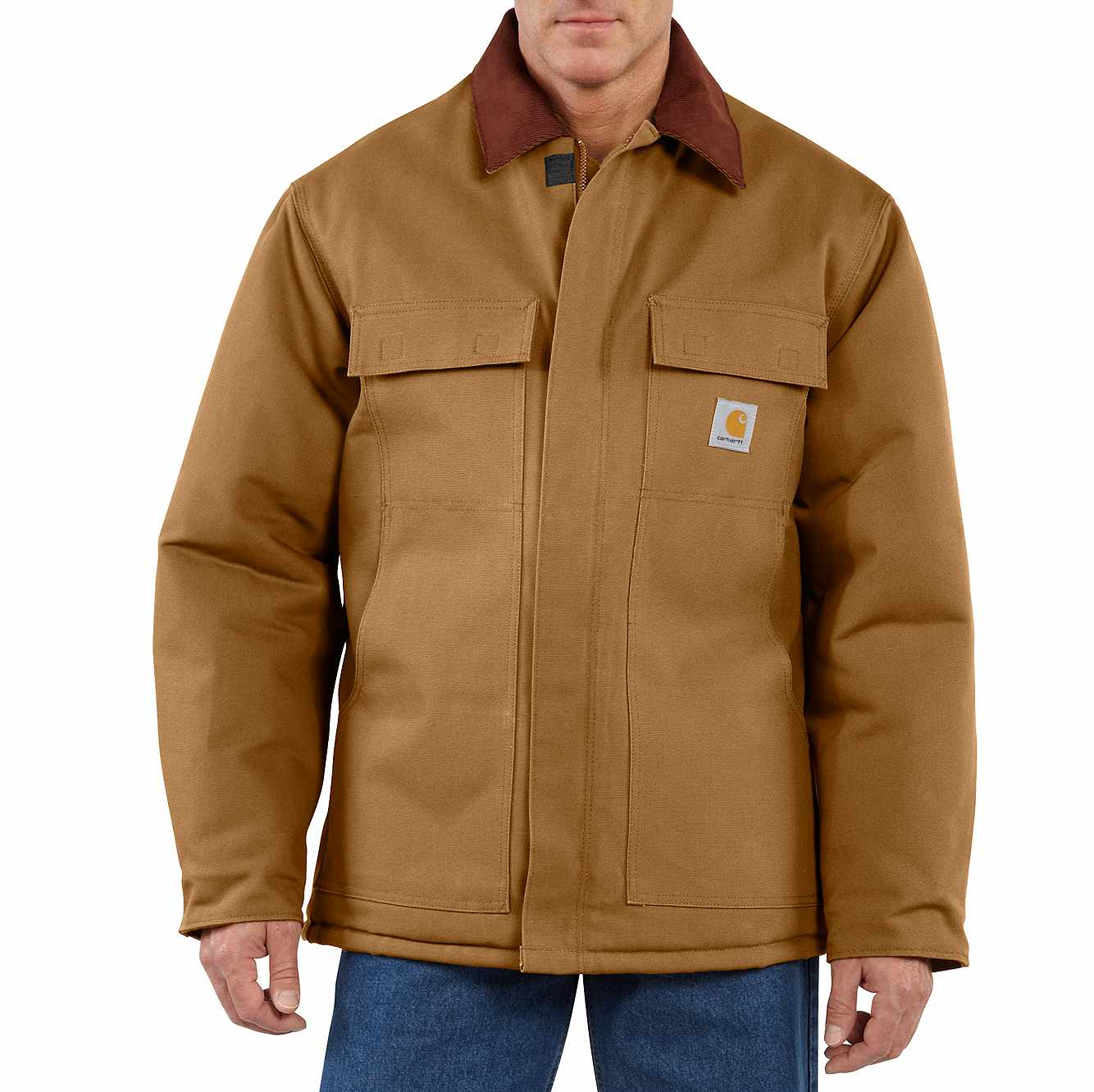 Picture of Duck Traditional Arctic Quilt-Lined Coat in Carhartt Brown