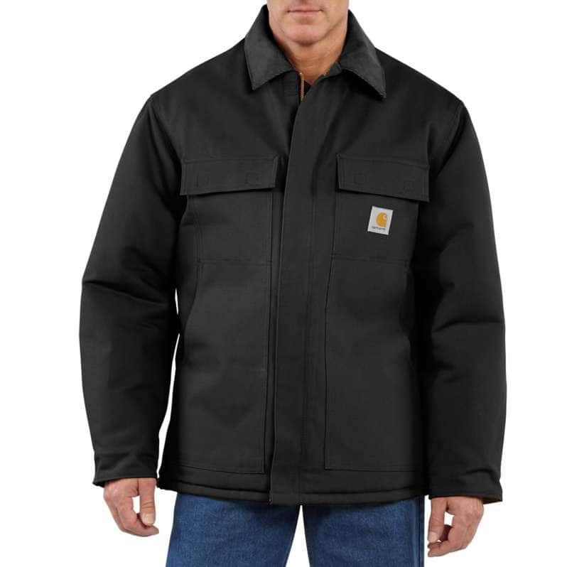 Carhartt  Black Loose Fit Firm Duck Insulated Traditional Coat