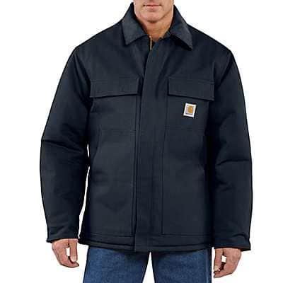 Carhartt Men's Dark Navy Loose Fit Firm Duck Insulated Traditional Coat
