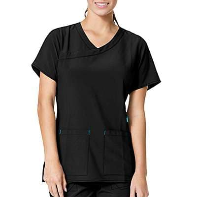 Carhartt Women's Azalea Cross Flex Y-Neck Media Scrub Top - front
