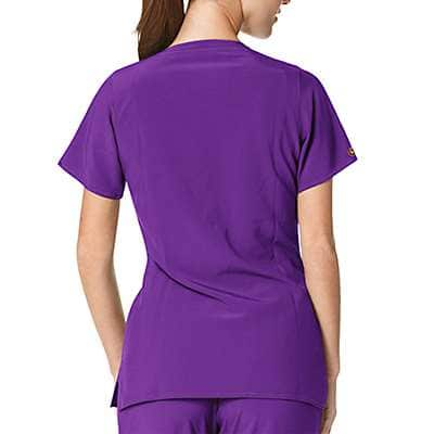 Carhartt Women's Azalea Cross Flex Y-Neck Media Scrub Top - back