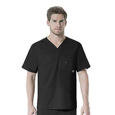Carhartt Men's Black V-Neck Multi-Pocket Top - front