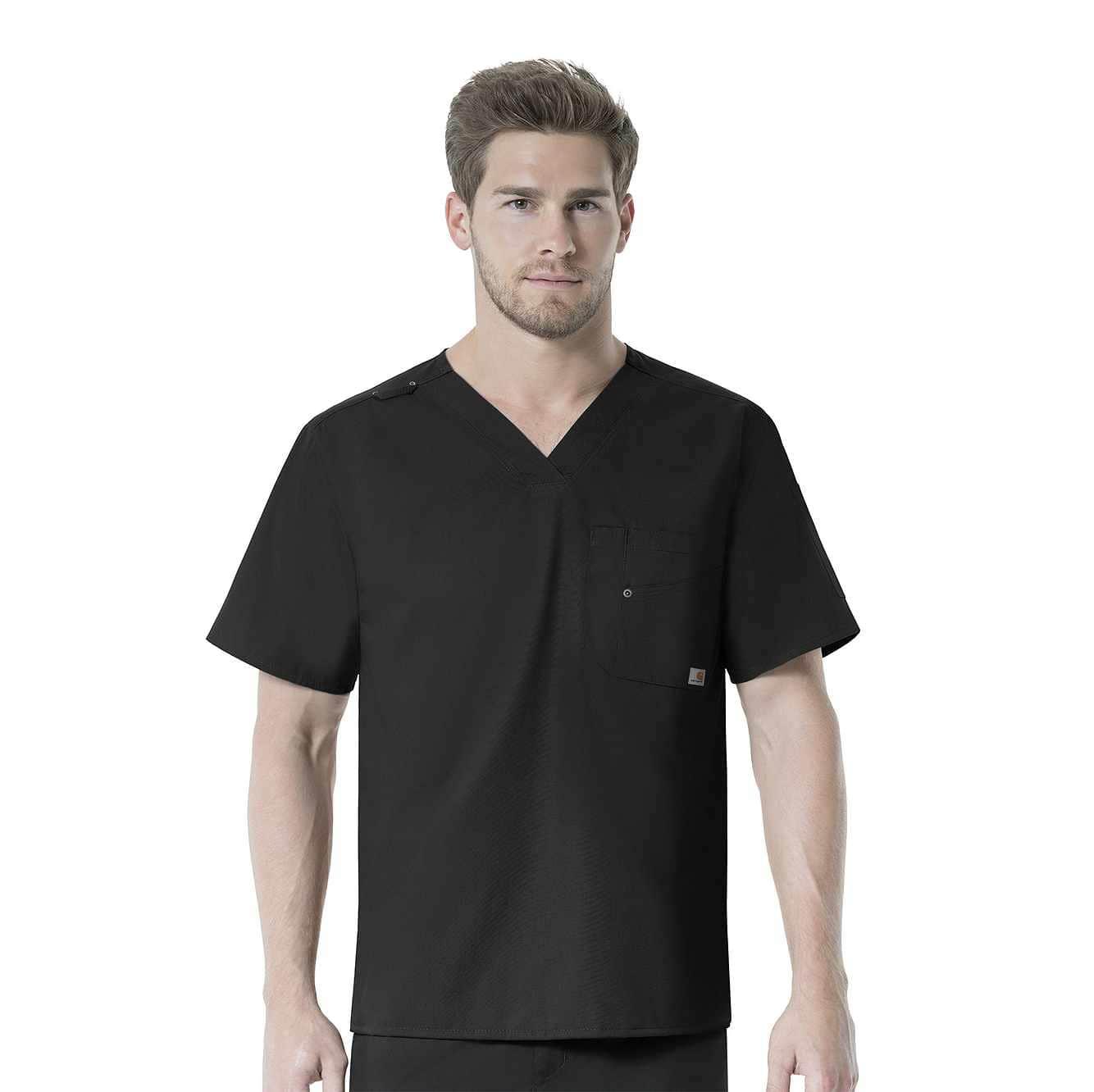 Picture of V-Neck Multi-Pocket Top in Black