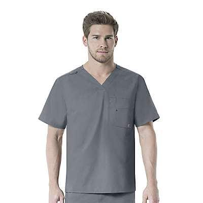 Carhartt Men's PEW-Pewter V-Neck Multi-Pocket Top - front