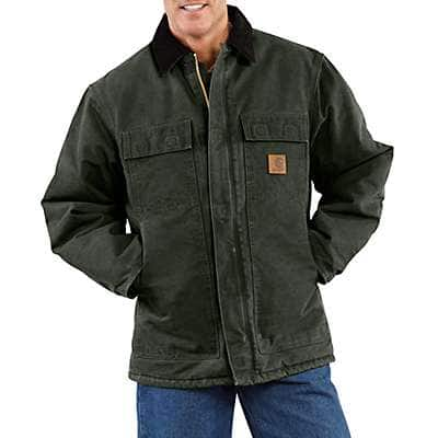 8df8382bad0 Carhartt Men s Moss Sandstone Traditional Coat   Arctic Quilt Lined - front  ...