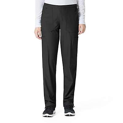 Carhartt Women's Navy Flat Front Straight Leg Pant - front