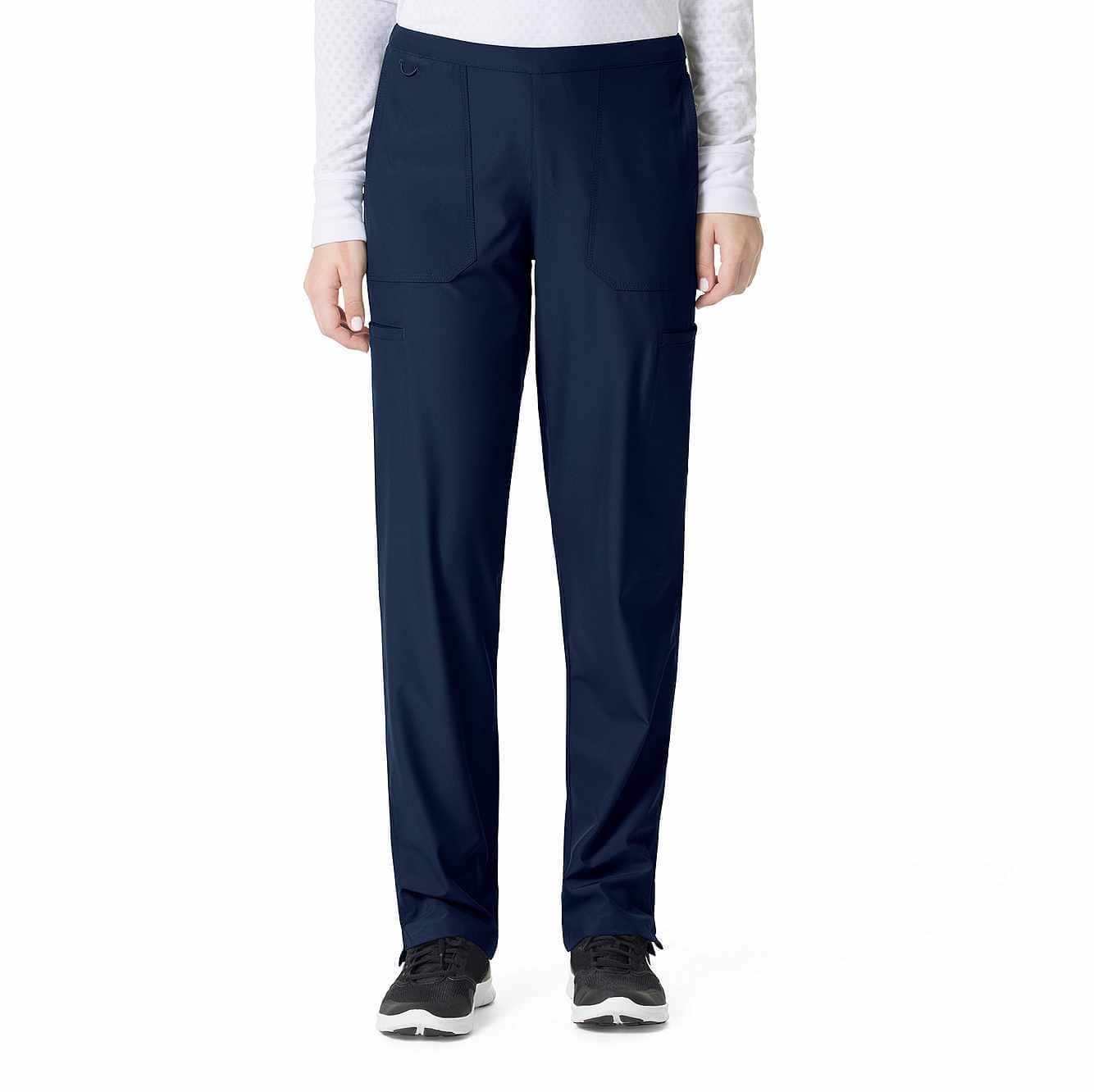 Picture of FLAT FRONT STRAIGHT LEG SCRUB PANT in Navy