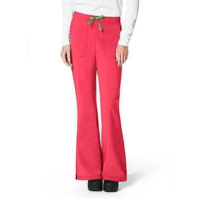 Carhartt Women's Azalea Cross Flex Flat Front Flare Scrub Pant - front
