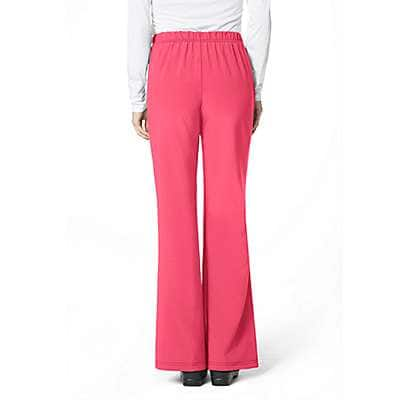 Carhartt Women's Azalea Cross Flex Flat Front Flare Scrub Pant - back