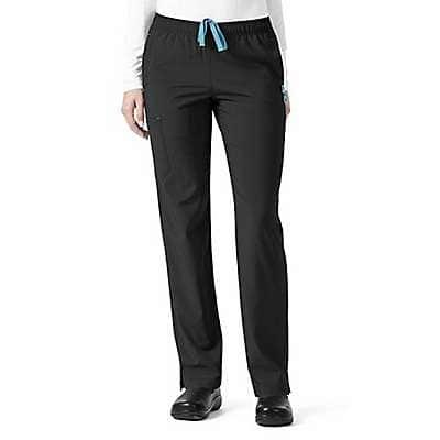 Carhartt Women's Pewter Full Elastic Slim Leg Pant - front