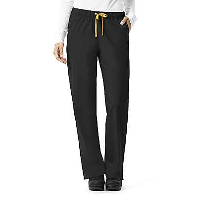 Carhartt Women's Black Pull-On Straight Leg Pant - front