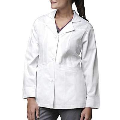 Carhartt Women's White Short Fashion Lab Coat - front