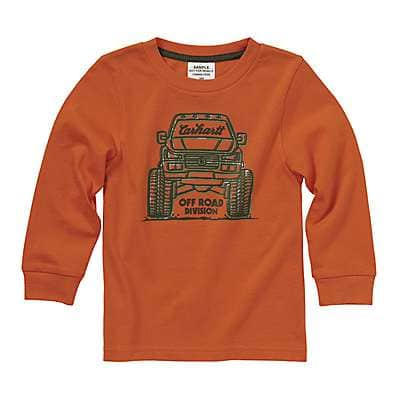 Carhartt Boys' Carhartt Blaze Orange Monster Truck Tee - front