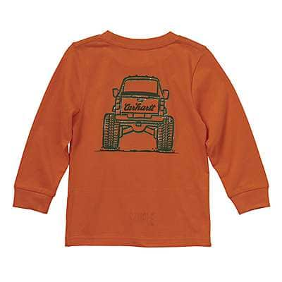 Carhartt Boys' Carhartt Blaze Orange Monster Truck Tee - back