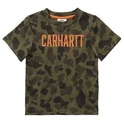 Carhartt Kid's Green Duck Camo Camo Tee