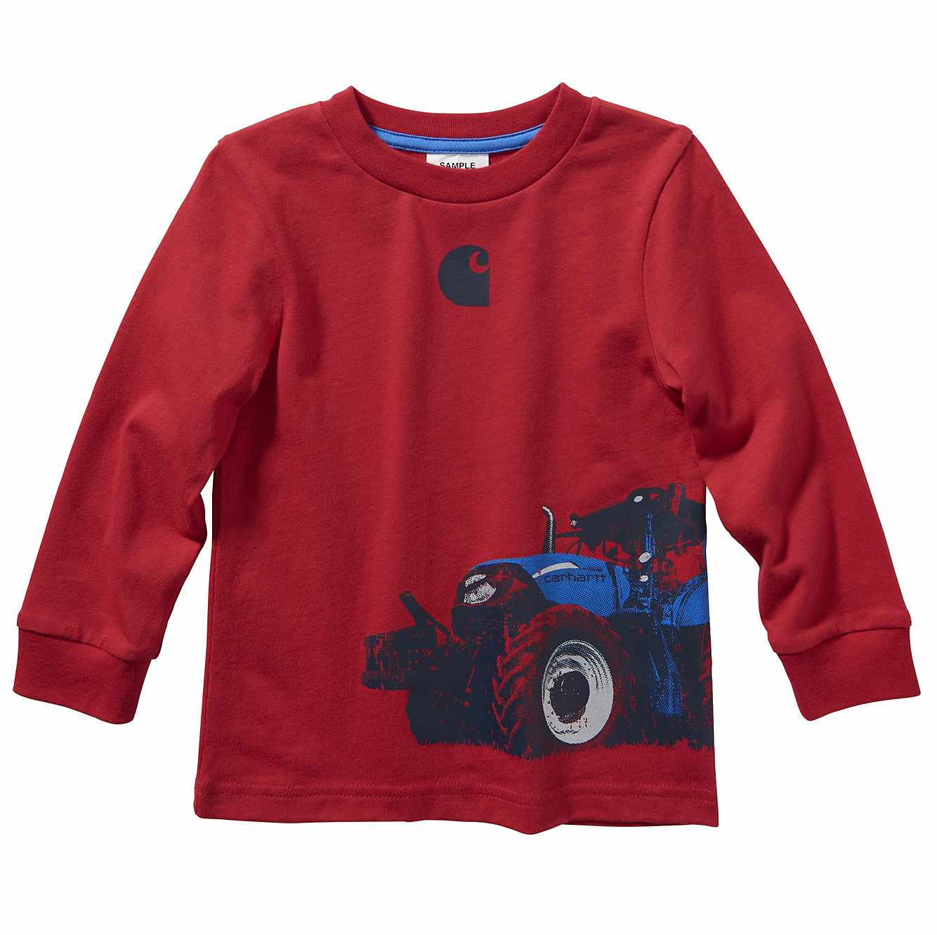 Picture of Long Sleeve Tractor Wrap Tee in Tango Red