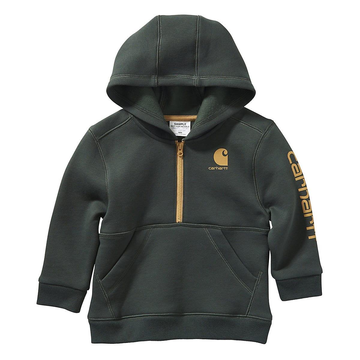 Carhartt Baby-Boys Hooded Half Zip Sweatshirt Sweatshirt