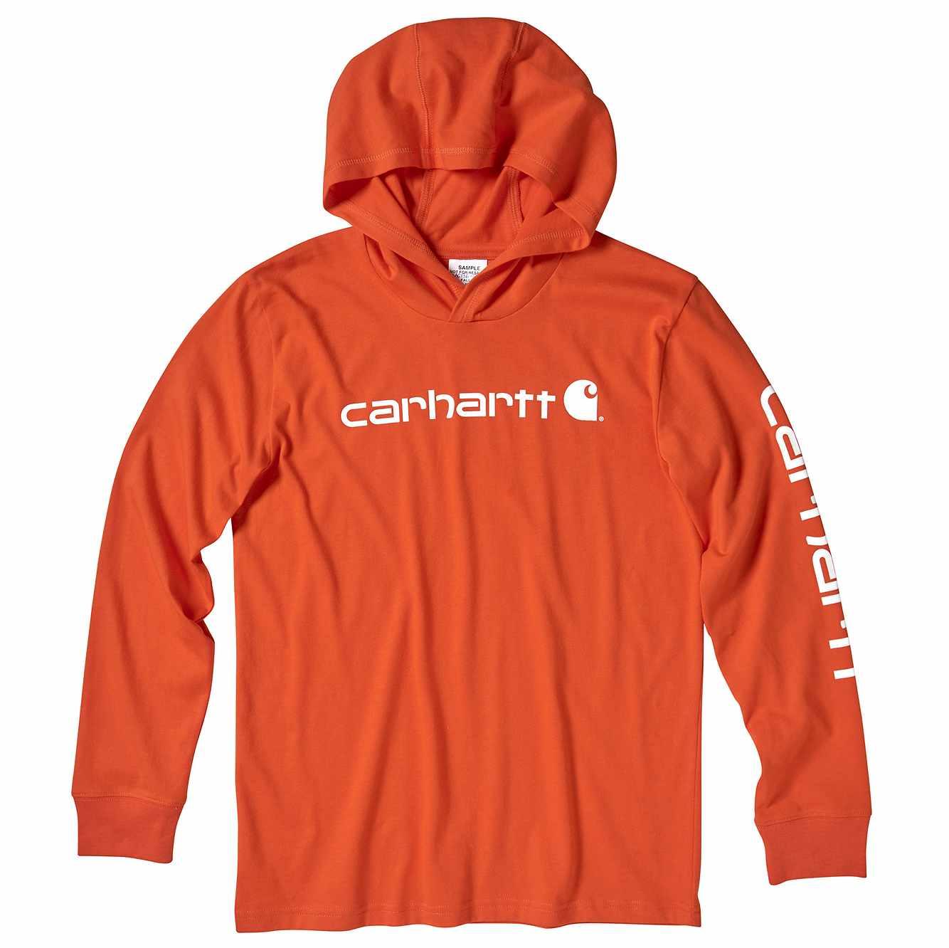 Picture of Long Sleeve Hooded Tee in Carhartt Blaze Orange