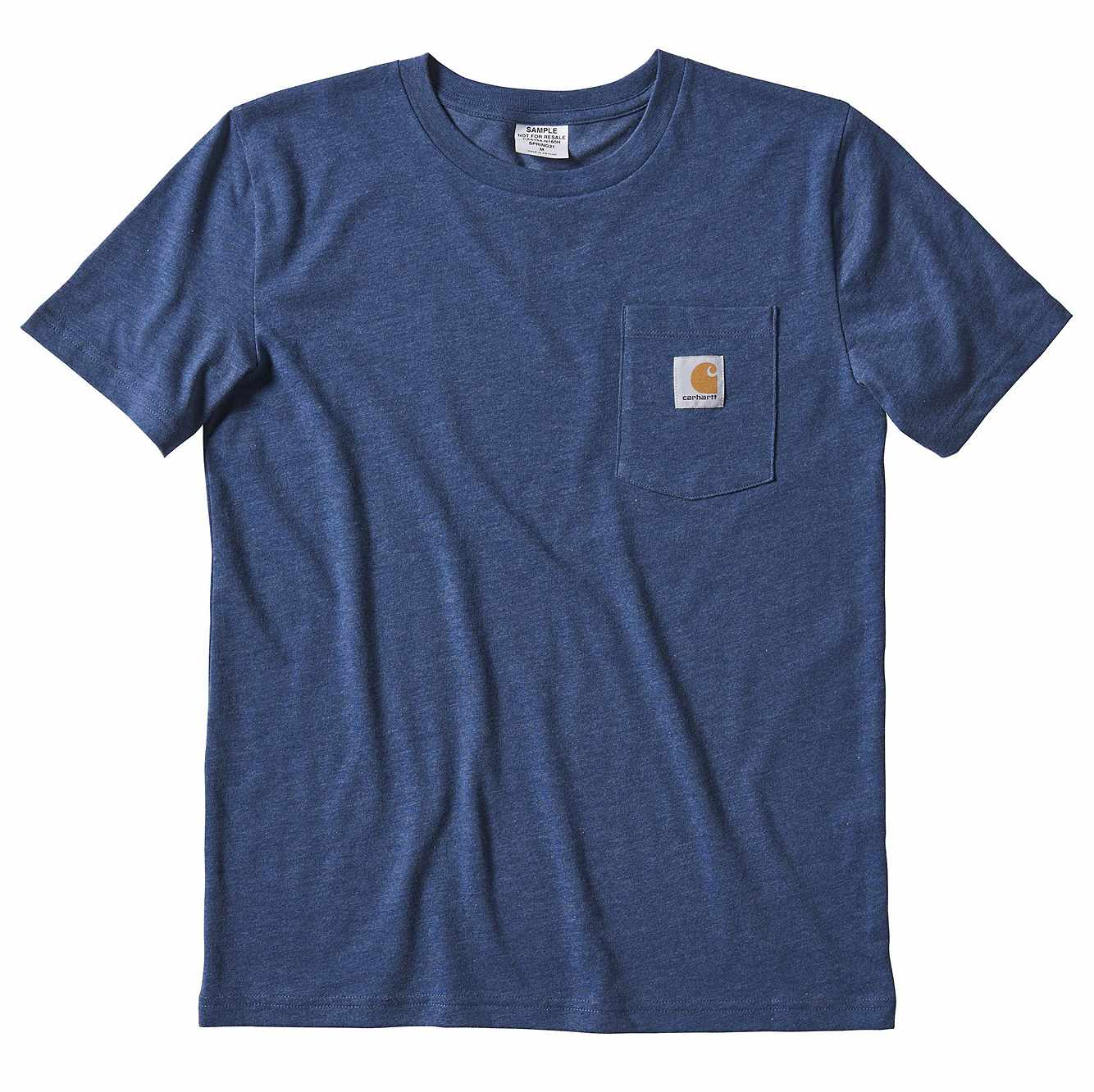 Picture of Kids Loose Fit Heavyweight Short-Sleeve Pocket T-Shirt in Denim Heather