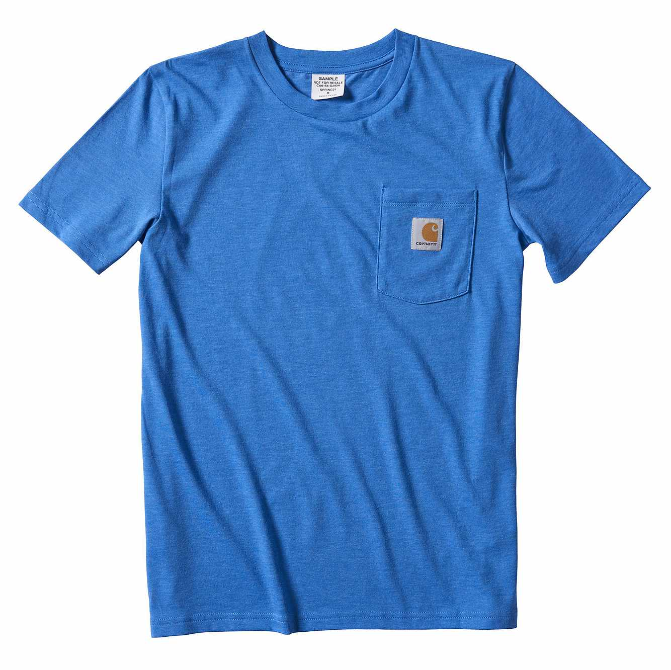 Picture of Kids Loose Fit Heavyweight Short-Sleeve Pocket T-Shirt in Palace Blue