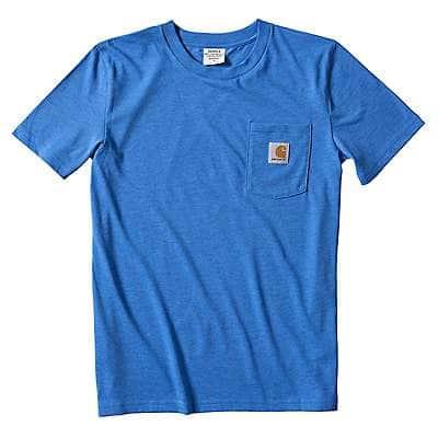 Carhartt Kid's Palace Blue Kids Loose Fit Heavyweight Short-Sleeve Pocket T-Shirt