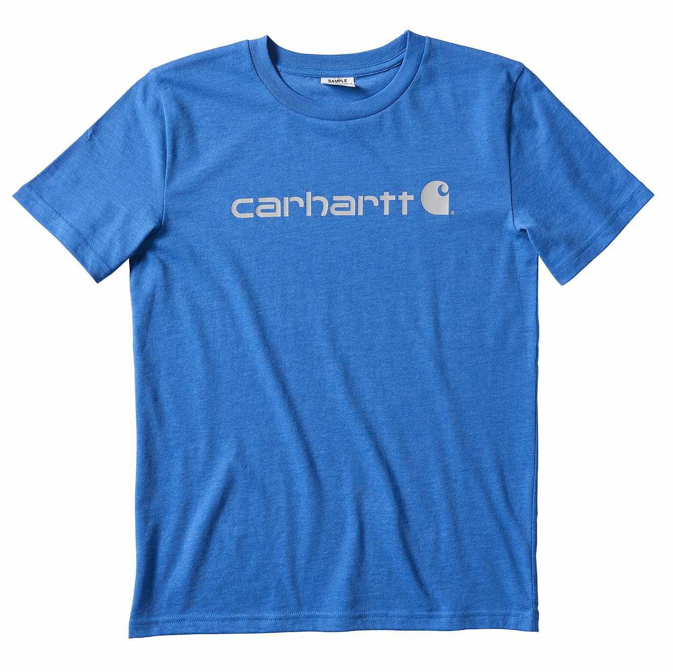 Picture of Carhartt Logo T-Shirt in Palace Blue