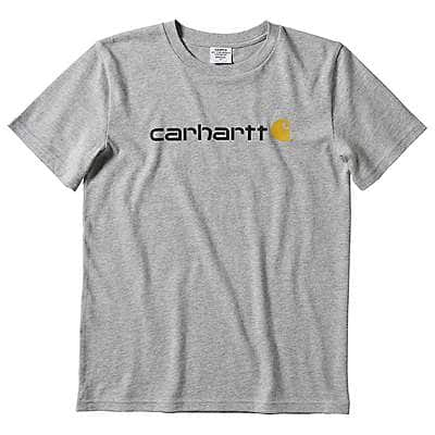 Carhartt Kid's Grey Heather Carhartt Logo T-Shirt
