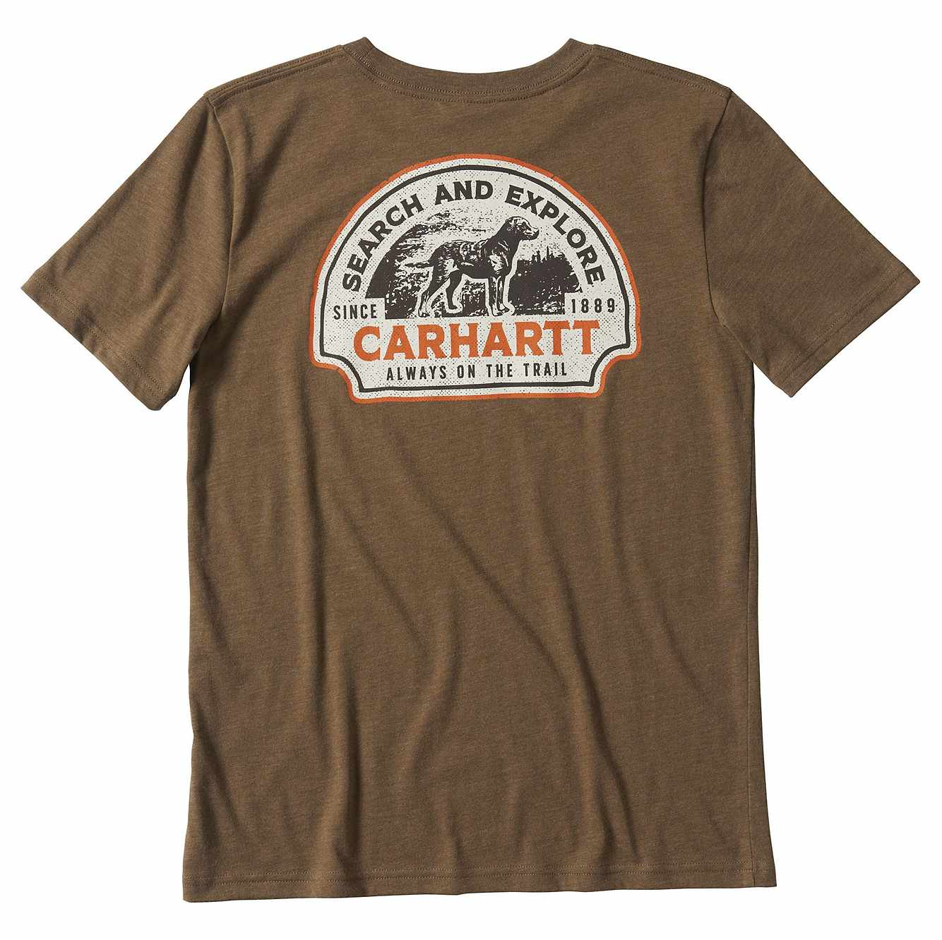 Picture of Search and Explore Graphic T-shirt in Canyon Brown Heather