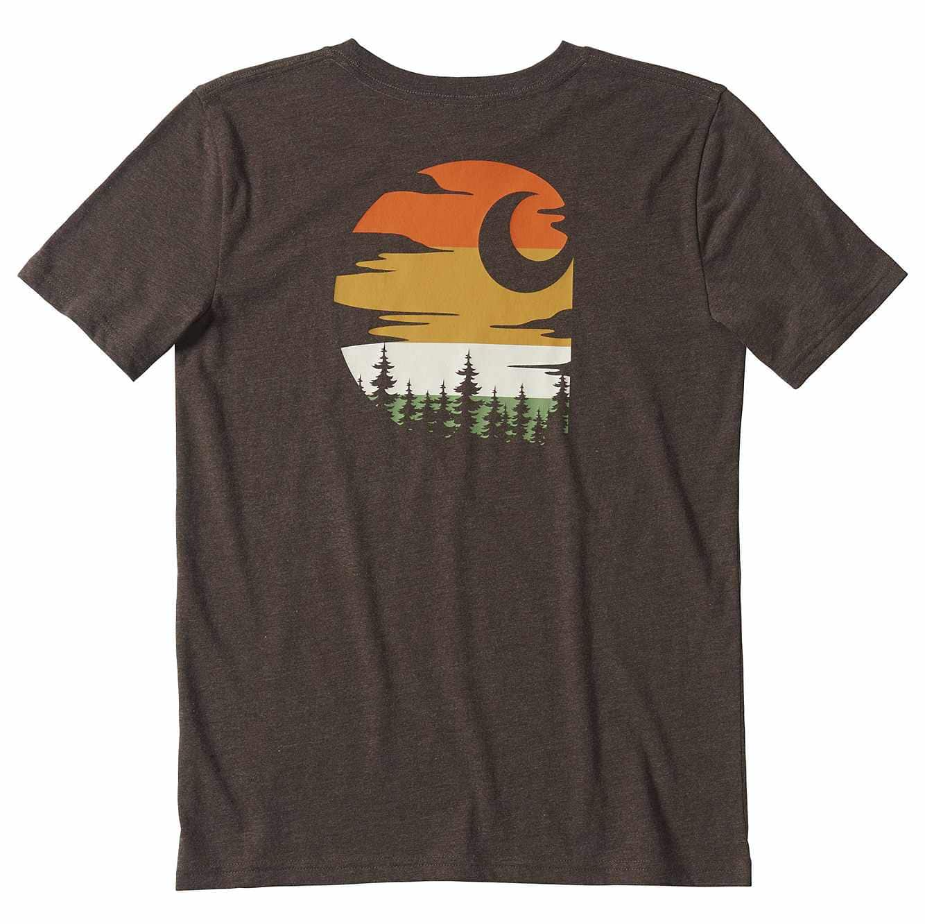 Picture of Sunset C Graphic T-Shirt in Mustang Brown Heather