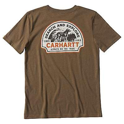Carhartt Kid's Canyon Brown Heather Outfish Them All Graphic T-Shirt