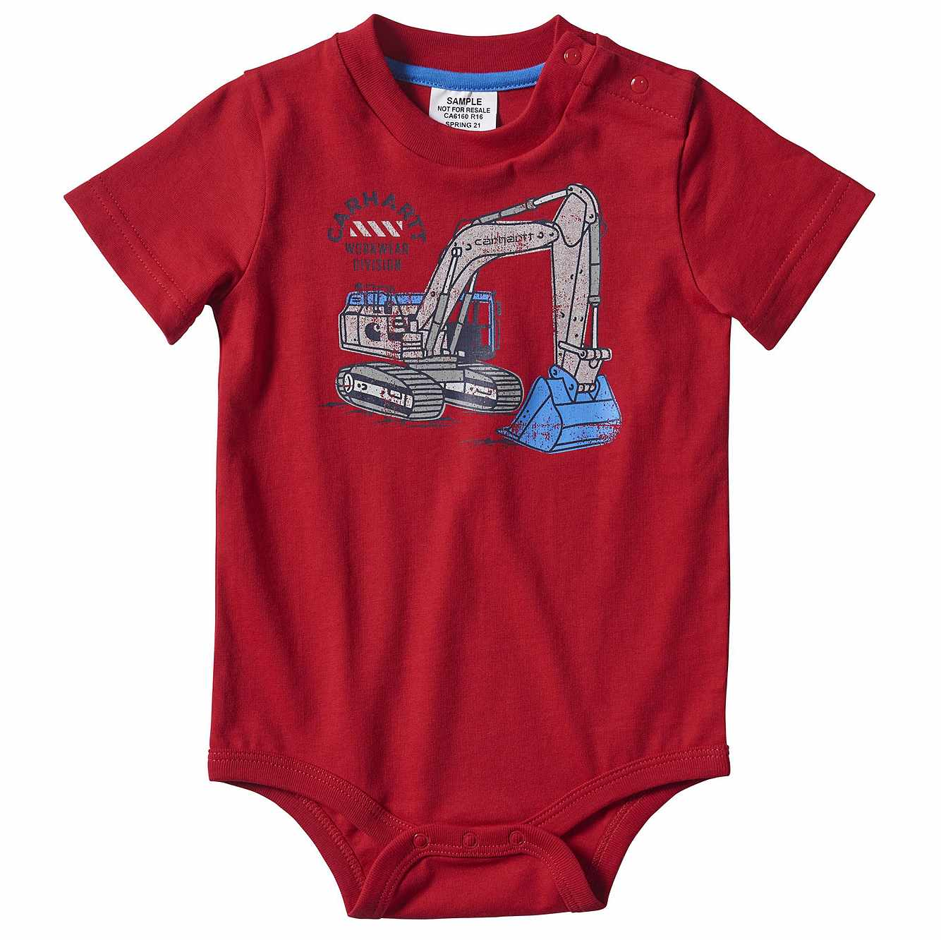 Picture of Workwear Graphic Bodyshirt in Tango Red