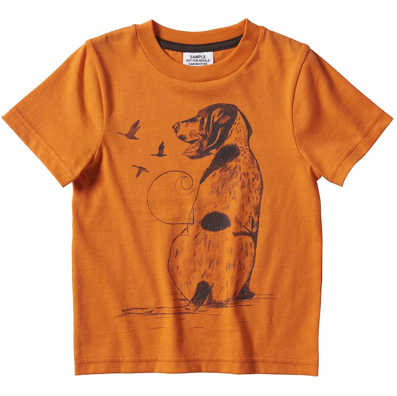 Picture of Equipment Stack Graphic T-Shirt in Exotic Orange