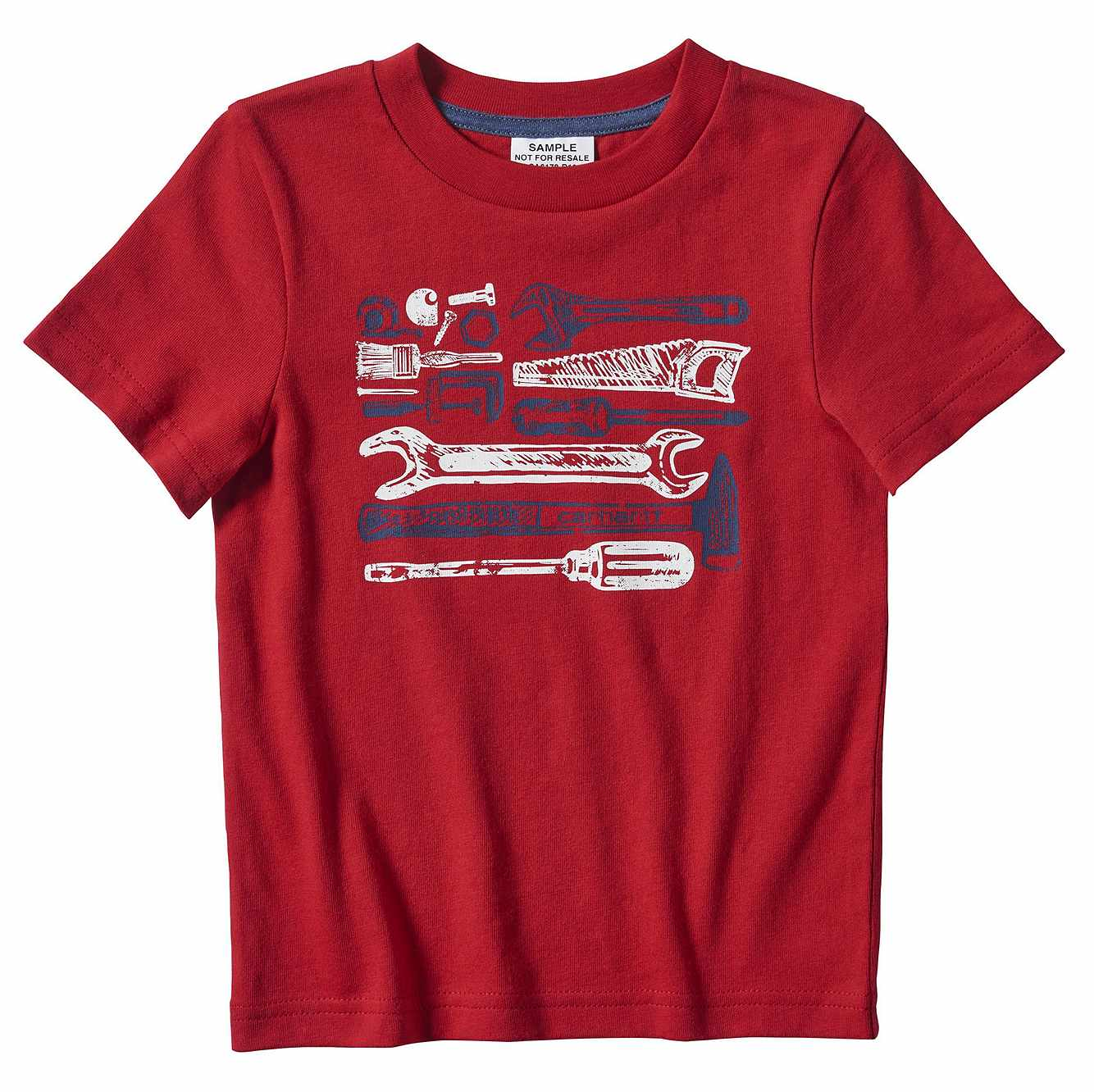 Picture of Tool Toss Graphic T-Shirt in Tango Red