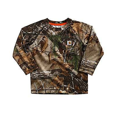 Carhartt Boys' Realtree Xtra Carhartt Force® Performance Camo Raglan Pocket Tee - front