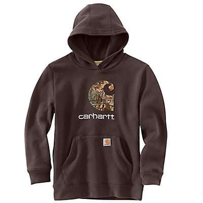 Carhartt Boys' Mustang Brown Big Camo C Sweatshirt - front