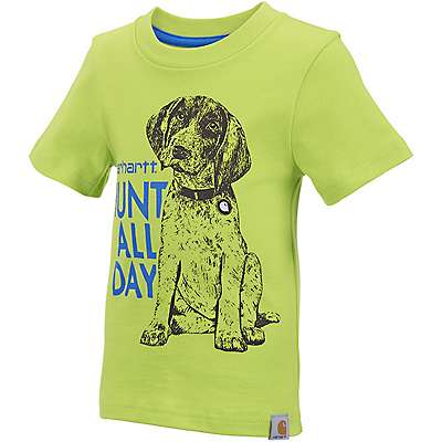 Carhartt Boys' Sour Apple Hunt All Day Tee - front