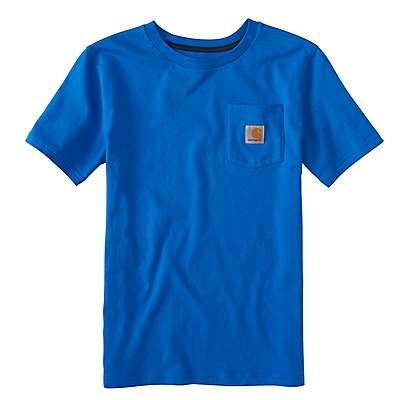 Carhartt Boys' Victoria Blue Pocket Tee - front