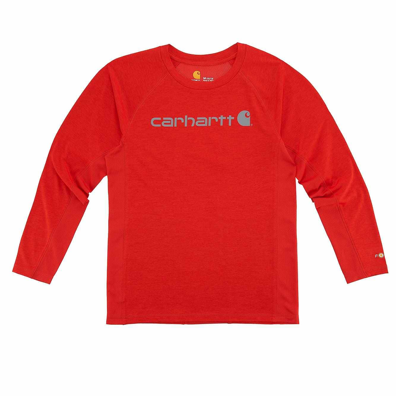 Picture of Force Logo Tee in Fiery Red Heather