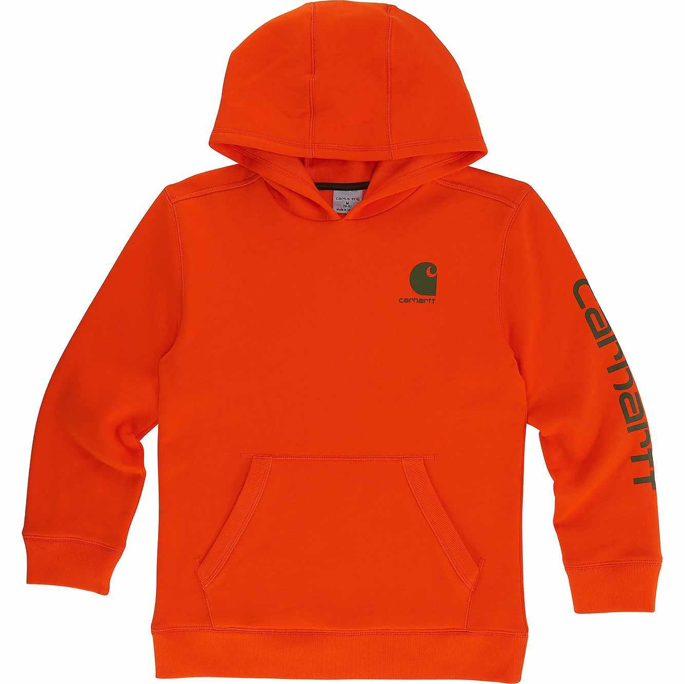 Picture of Signature Carhartt Sweatshirt in Blaze Orange