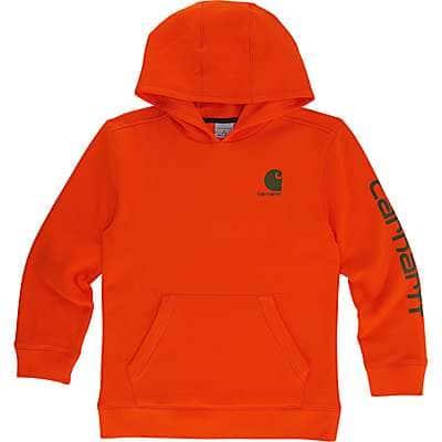 Carhartt Kid's Blaze Orange Signature Carhartt Sweatshirt