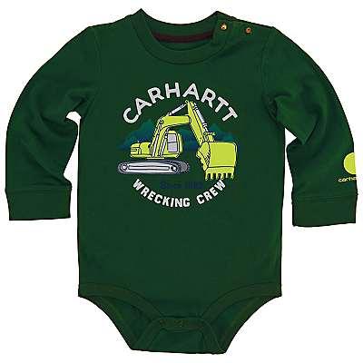 Carhartt Boys' Green Pastures Wrecking Crew Bodyshirt - front
