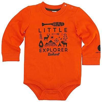 Carhartt Boys' Blaze Orange Little Explorer Bodyshirt - front