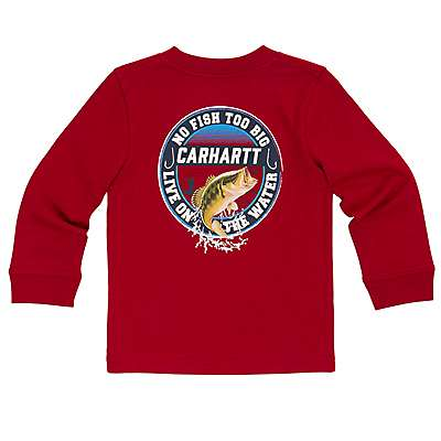 Carhartt Boys' Chili Pepper Live on the Water Tee - front