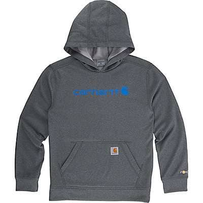 Carhartt Boys' Charcoal Heather Force Signature Sweatshirt - front