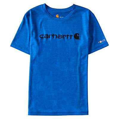 Carhartt  Victoria Blue Heather Force Logo T-Shirt - front