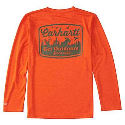 Carhartt Boys' Orange.com Heather Force® Get Outdoors Tee - back