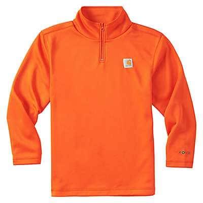 Carhartt Boys' Orange Force Quarter Zip Sweatshirt - front