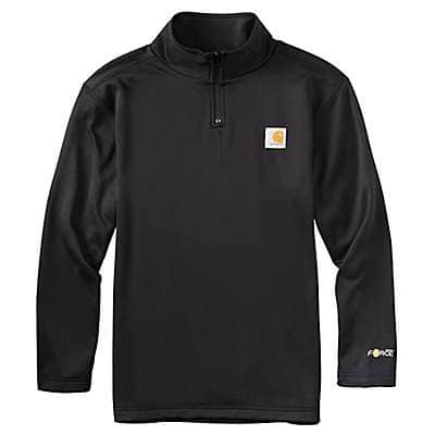 Carhartt Boys' Orange Force Quarter Zip Sweatshirt - front