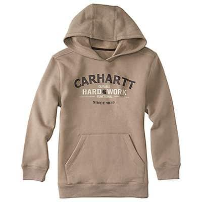 Carhartt Boys' Desert Heather Hard Work Sweatshirt - front