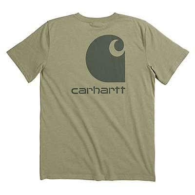 Carhartt Boys' Olive Green Heather Carhartt Logo Tee - front
